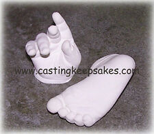 Infant Baby Foot Prints Hands Casting Mold Kit - Matte