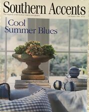 SOUTHERN ACCENTS MAGAZINE JULY/AUG 1998~COOL SUMMER BLUES~