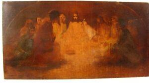 Antique Han Van Meegeren Christ & Disciples O/B Painting