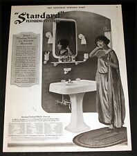 1921 OLD MAGAZINE PRINT AD, STANDARD PLUMBING FIXTURES, SELECT THEM AT SHOWROOM!