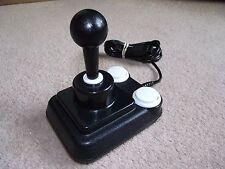 Competition Pro Super Cool B&W Retro 9 Pin Joystick for Amiga/Atari/MSX etc