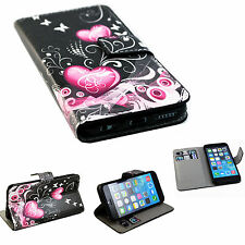 Wallet Flip Phone Leather Stand Cover Case Shield For Apple iPhone 6 6S 4.7""