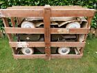 1960S TRIANG JEEP PEDAL CARS A PAIR IN ORIGINAL WOODEN HARRODS CRATE RARE!