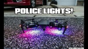 2 Pack Police STROBE Anti Collision Warning Lights for DJI Mavic Air 2 / Combo