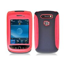Black Hybrid with Red TPU Inner Case Cover for Blackberry Torch 9800/9810