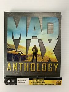 MAD MAX ANTHOLOGY 1/2/3/4 COLLECTION BLU RAY R4 - Very Good Condition Art Cards