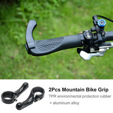 Par Puños de Manillar Grip Para Bici Bicicleta de Montaña MTB Ciclismo Negro