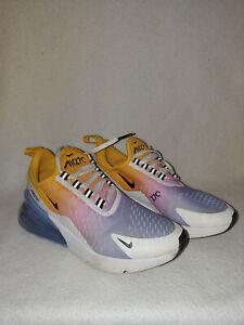 Women Nike Air Max 270 Womens Ah6789-702 University Gold Blue Shoe Size 6 M 36.5