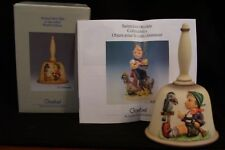 1986 Ninth Edition Hummel Annual Bell in Bas Relief with Box and Pamphlet