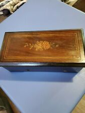 Antique Cylinder Victorian Rosewood Marquetry Inland Music box
