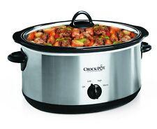 Crock-Pot 7-Quart Oval Manual Slow Cooker Stainless Steel (SCV700SS) 8 Quart