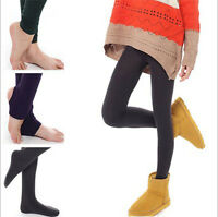 Women Fleece Warm Thick Slim Show Thin Socks Pantyhose Tights Footless Stirrup