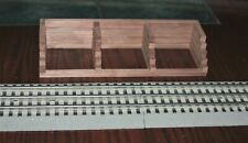 """S gauge handmade walnut wood coal bin for Lionel,k Line , MTH and others USA 9"""""""