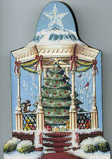 Brandywine Santa's Village: Christmas Town GAZEBO & CHRISTMAS TREE Shelf Sitter