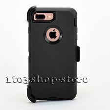 iPhone 7 Plus Hard Shell Case w/Holster Belt Clip for Otterbox Defender (Black)