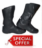 RKSPORTS MENS MOTORCYCLE MOTORBIKE TOURING  BLACK LEATHER  BOOTS