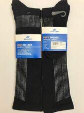 2 PAIR - Slalom Men's Ski Liner Size 9-12 *100% Merino Wool Blend* NEW Black