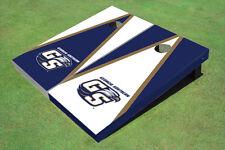 "Georgia Southern University ""Gs"" Alternating Triangle Custom Cornhole Board"