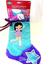 Christmas Stocking Blue Polka Dot Princess Dress-Up Kit With 4 Costume Pieces