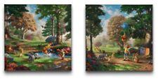 Thomas Kinkade Winnie the Pooh I & II Wrap 14 x 14 Gallery Wrapped Canvas Set