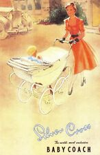 Nostalgia Postcard 1952 Silver Cross Pram Advertisement Reproduction Card NS11