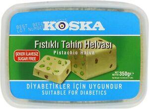 Koska Halva Sugar Free Pistachio 350 g (Pack of 2)