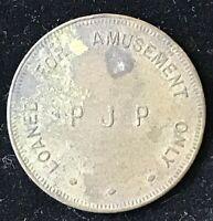 Vintage PJP Amusement token