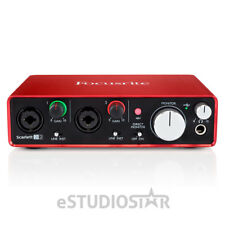Focusrite Scarlett 2i2 2nd Gen USB 2.0 Audio Recording Interface with Protools