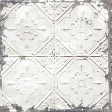 Tin Tile Wallpaper By A Street Prints - Light Grey FD22305