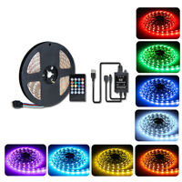 USB LED Strip 5050 RGB Mood Light TV Backlight Multi Color+ Music Remote Control