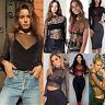 Fashion Summer Women See-through Top Sheer Mesh Blouse Long Sleeve Black T-Shirt