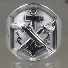 US NAVY Licensed SWCC Rate Ring solid .925 sterling silver size 11