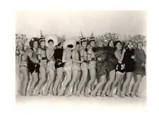 RISQUE BURLESQUE CHORUS LINE OF LADIES, ORIGINAL VINTAGE PHOTO