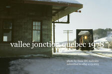 """Canadian Pacific Railway 8768  Vallee Jonction Quebec  1978 4x6"""" photo"""