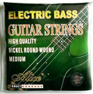 Brand New Alice EB607 Electric Bass Guitar String Set (Medium)