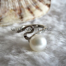 8.0-8.5mm White Freshwater Pearl Ring R8H N Size Adjustable Size U