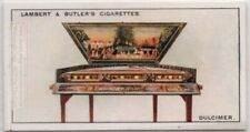 Dulcimer Stringed Music Instrument 1920s Ad Trade Card
