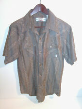 BC Ethic Men's Plaid SS Western Pearl Snap Cowboy Shirt Large L