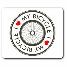 Computer Mouse Mat - I Love My Bicycle Bike Cycle Heart Office Gift #5457