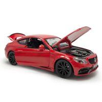 1:32 C63S AMG Die Cast Modellauto Spielzeug Sammlung Pull Back Rot