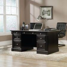 Sauder Palladia Executive Desk, Black