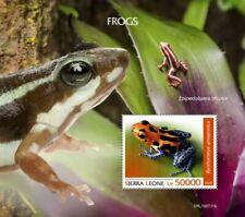 Sierra Leone - 2019 Frogs on Stamps - Stamp Souvenir Sheet - SRL190711b