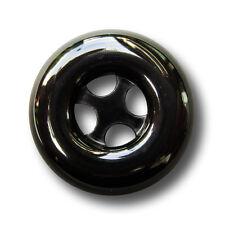 10 attraktive schwarze Mantelknöpfe aus Kunststoff (1065sc-23mm)