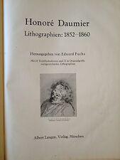 """LIBRO ANTICO BROSSURE """"LITHOGRAPHIEN: 1852-1860"""" HONORè DAUMIER 1900"""