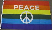 3X5 RAINBOW PEACE FLAG GAY LESBIAN  PRIDE WORLD F794