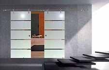 Soft Stop Doppel Glasschiebetür Glas Schiebetür 2x900x2175mm P1-900A-2-DPL