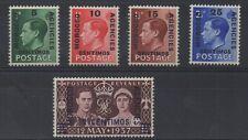 Ed Viii - Set x 4 Morocco o/p set + 1937 Coronation. Fine Mnh.