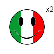 Stickers plastifiés SMILEY Ducati Italia Guzzi Aprilia Vespa - 6cm x 6cm