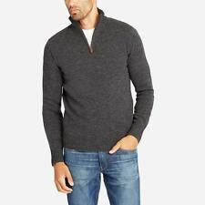BONOBOS Lambswool Half-Zip Charcoal XS Slim Fit $108