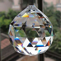 DIY 50MM FENG SHUI HANGING CRYSTAL BALL Sphere Prism Rainbow Suncatcher